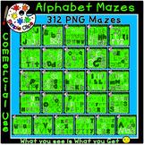 Alphabet Mazes Huge Bundle Over 300 pieces -  Commercial U