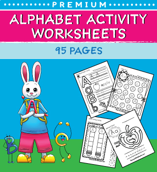 Alphabet Mazes, Image Matching, and Coloring Worksheets in One!