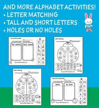 Alphabet Activity Worksheets (78 Worksheets)