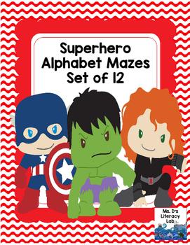 Alphabet Mazes (Superheroes)