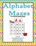 Alphabet Mazes and Memory Game