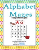 Alphabet Mazes and Memory Game