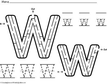 Alphabet Mazes and Tracing Sheets (NO PREP)
