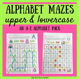 Alphabet Mazes for Uppercase and Lowercase Letters: An A-Z Alphabet Pack