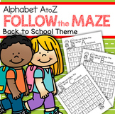 Back to School Alphabet Mazes No-Prep Printables Recogniti