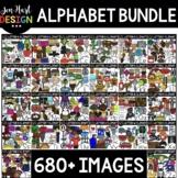 Alphabet Clipart Bundle - Beginning Sound Clip Art {Jen Hart Clipart}