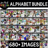 Alphabet Clipart Bundle - Beginning Sound Clip Art {Jen Ha
