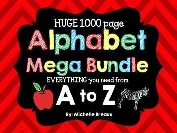 Alphabet Mega Bundle Letter of the Week- Phonics & More {PreK, K, 1, Autism}