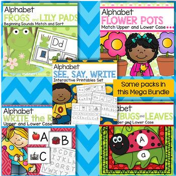 Alphabet Mega Bundle 31 Packs - Centers, Games, Recognition, Sounds, Tracing