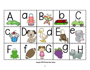 Alphabet Memory Game Cards