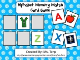 Alphabet Memory Match Card Game