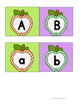 Alphabet Memory Match Center Game - FREEBIE!