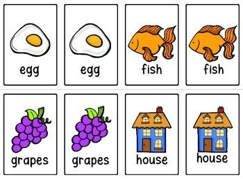 Alphabet Memory Match Game Cards