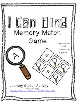 Alphabet Memory Match - Uppercase to Lowercase