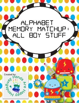 Alphabet Memory Matchup: All Boy Stuff