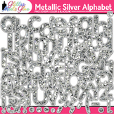 Metallic Silver Alphabet Clip Art {Great Christmas Classro