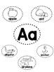 Alphabet Mini-Anchor Chart Bundle - With Labels - Blackline