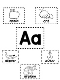 Alphabet Mini-Anchor Chart Bundle - With Labels - Blackline