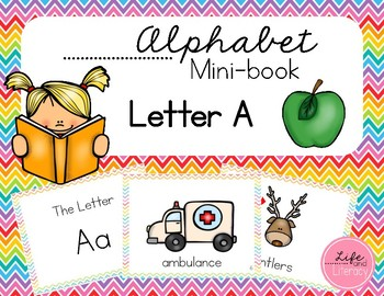 Alphabet Mini-Book || Letter Book, letter A || FREEBIE