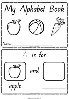 Alphabet Mini Book QLD Beginners Font