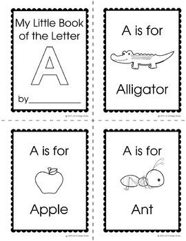 Alphabet Mini Book The Letter A