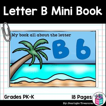 Alphabet Mini Book for Early Readers: The Letter B