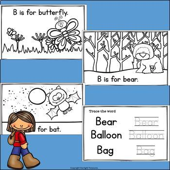 Alphabet Letter of the Week: The Letter B Mini Book