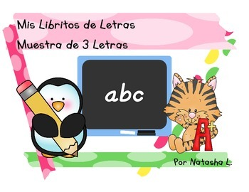 Alphabet Mini Booklets Sampler Set (Spanish Version)
