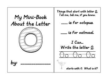 Alphabet Mini Booklets Set #1 (Featuring B, O, P, & T)