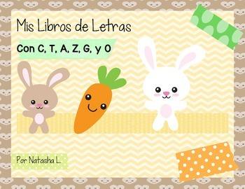 Alphabet Mini Booklets Spanish Set #1 (Featuring A, C, G, O, T, & Z)