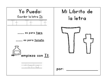 Alphabet Mini Booklets for E, R, T, and Y (Spanish)