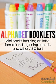 Alphabet Mini Booklets with Bonus Mazes
