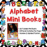 Alphabet: Letter Tracing Coloring Pages, Mini Books - Distance Learning