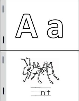 Alphabet Mini-Books (Fill-in Version)
