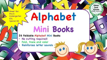 Alphabet Mini Books - Fold, Trace and Color
