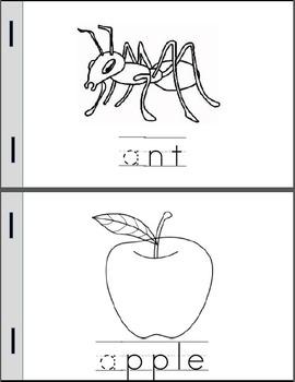 Alphabet Mini-Books Sample Pack (Letter A)