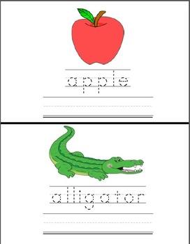 Alphabet Mini-Books (Trace and Complete Version)