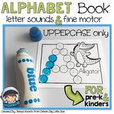 Alphabet Mini Books With Dot Markers (Bingo Daubers) UPPERCASE (pre-k & kinders)