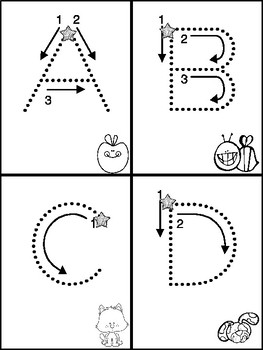 ABC & abc Mini Books with Beginning Sounds for Tracking Le