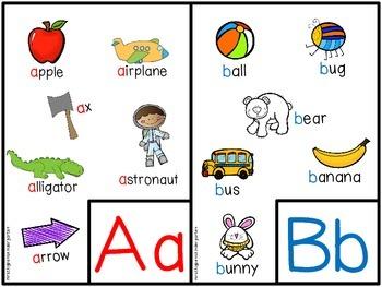 Alphabet Mini Charts A-Z