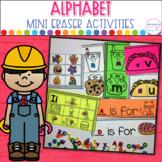 Alphabet Mini Eraser Activities