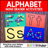 Alphabet Mini Eraser Activity - Letter Mats