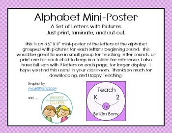 Alphabet Mini-Poster Freebie