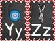 Alphabet Posters - Red Chevron