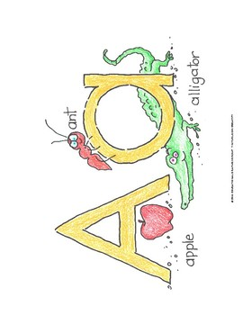 "Alphabet Mini-Posters 8.5""x11"" in Color"