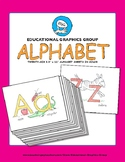 "Alphabet Mini-Posters 8.5""x11"" in Color"