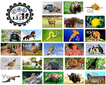 Alphabet Posters Letters in the Zoo small
