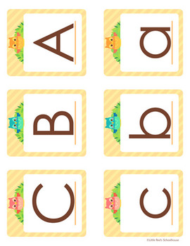 Alphabet Posters and Word Wall Cards - Owl Theme