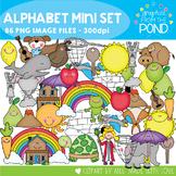 Alphabet Mini Set - Clipart for Phonics and Alphabet