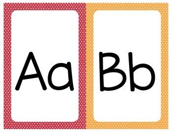 Printable Alphabet - Mini Star Theme